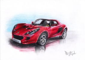 Lotus Elise by YunakiDraw