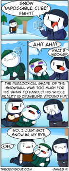 Impossible Cube Fight by theodd1soutcomic