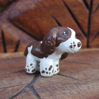 Mini English Springer Spaniel Sculpture by LeiliaClay