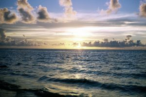 waterscape - pacific ocean sunrise by cheesyflips-stock