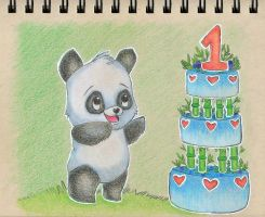 Day 4: Green Bamboo Cake by sketchwithtiff