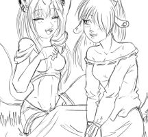 Kosel y lucy sketch by lindanany