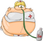 Nurse Cheryl being inflated by JuacoProductionsArts