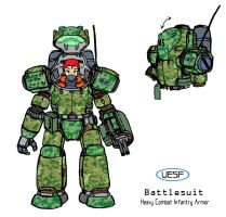 UESF Battlesuit by CarrionTrooper