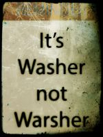 Washer not warsher retro by azieser