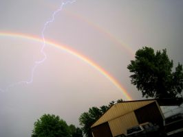 double rainbow+lightning OMG by shewwy