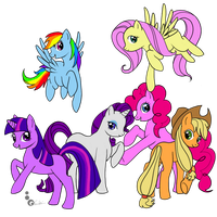 ::MLP:FiM:: BLANK FLANKS by HeartLessWolfGirl