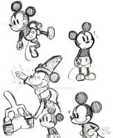 Mickey Drawings by Celebi9