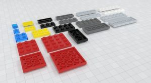 Free Lego Brick Models 2 by Zortje
