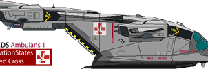 Halo Pelican Dropship (Red Cross Variant) by Kuname