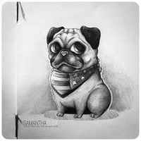 Pug by SamanthaElisa