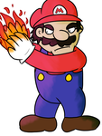 Mario With A Fireball by VertParrot