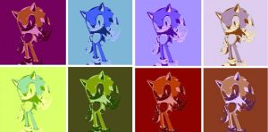 Sonic the Hedgehog Pop Art by TheGreatDevin