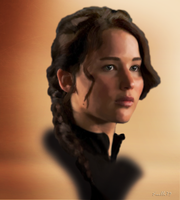 Katniss - Edit Painting by Xaelle39