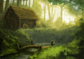 Forest Shack 01 by gregorKari