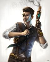 Steampunk Guy by adlovett