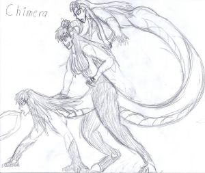 Monster Girl Encyclopedia Chimera (Sketch)