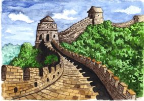 great wall of china by Solanum80