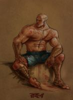 Street Fighter - Sagat by anasrist