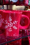 Red Snowflake Mug by lionessleesha