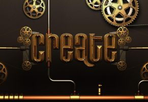 Create - steampunk 3d render by nazmoza