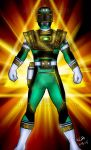 Turbo  Green Zeo Gold Ranger Fusion (comission) by blueliberty