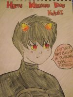 HAPPY WRIGGLING DAY KARKAT (coloured version) by MajorEpicness