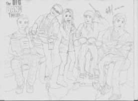 Big Bang Theory Sketch by Andrea--P