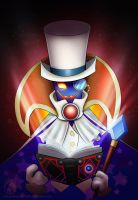 Super Paper Mario - Count Bleck by CelestiaDragonKnight