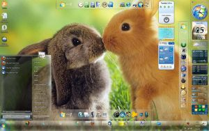 My Windows 7 Desktop Current by SchnuffelKuschel
