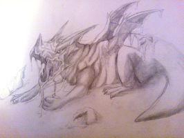 Baby Dragon sketch by Ameliila