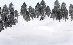 Snow forest .Free Background. by scribblin