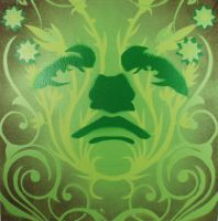 Abstract Portrait - Green by n8p