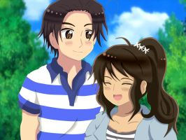 SouthKoreaxPhilippines-A date in the park by DazaruKanChu