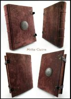 Victorian leather grimoire by MilleCuirs