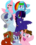 My mane 6 [Midnight Shimmer inclouded] by ShadowMoonPvP