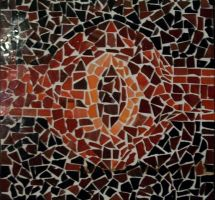 Sauron's Eye Mosaic Art Piece by JAWALORD