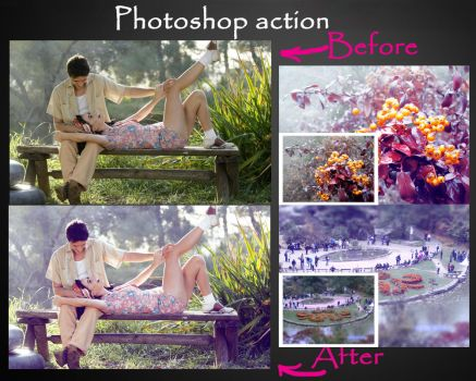 Photoshop action ''Cold Tone'' by ArtAndreyCool