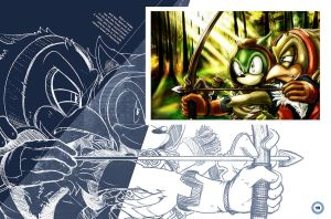 Sonic Art Collection (Pages 18-19) by darkspeeds