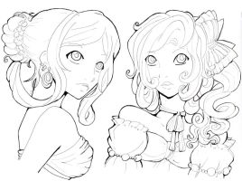 Lineart practice by Namtia