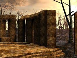 3D Background: Ritual Temple by Sheona-Stock