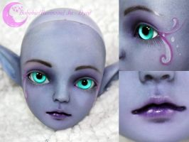 BJD Face Up - Resinsoul Ju - Dyed by Izabeth