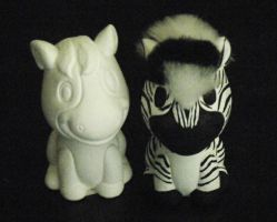 Hand Painted Zebra Bobble Head by ChibiSayuriEtsy