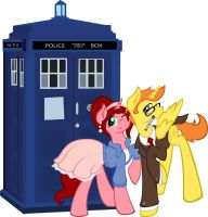 Doctor Who Cosplay ponies by Sugarshockpony