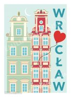 Wroclaw poster by Ylvanqa