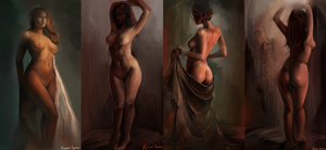 Female model study by Razor-Sensei