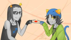 Equius and Nepeta by Sing6054