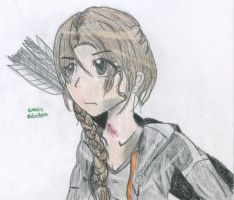 Katniss Everdeen (colored) by KittyCatCaptain