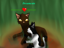 Dreamcats-Huntermoon and Nightheart by Finchflight