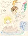 Watercolor Sketches by IRideAMagicalLadle